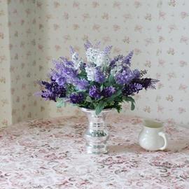 New Arrival Lovely Lavender Blossoms in Vase Decorative Artificial Flower Set