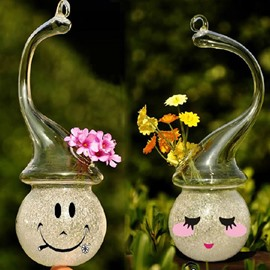 Amazing Creative DIY Snowman Design Glass Flower Vase