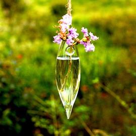Creative Sharp Ends Glass Hanging Flower Vase