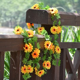 Wonderful Home Decoration Sunflower Artificial Flower Vine