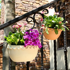 Creative Resin Lace Edge Hanging Flower Pot