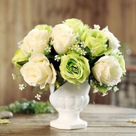 European Style Roses Desktop Decoration Artificial Flowers