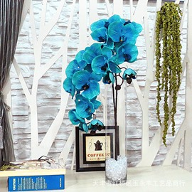 Blue Moth Orchid Artificial Flowers for Home Decoration