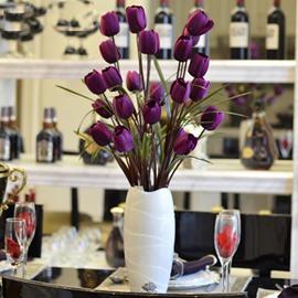 Gorgeous Silk Tulip Desktop Decoration Artificial Flower Set