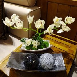 Realistic Modern Design Artificial Cymbidium Home Decorative Flower Sets