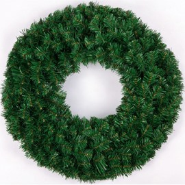 Solid Thickened Green Wreath Christmas and Festival Room and Door Decorations