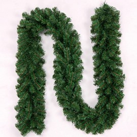 Artifical Solid Thickened Green Rattans Christmas and Festival Room and Door Decorations