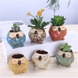 Elegant and Creative Style Owl Shape Lovely Ceramics Succulent Pots