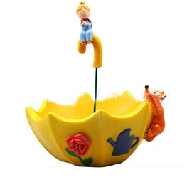 Modern and Creative Yellow Umbrella Shape Lovely Little Prince and Fox Succulent Pots