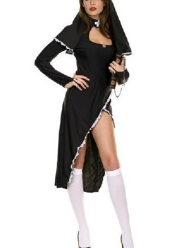 Sexy And Skimpy Fashion Nun Pattern Costume