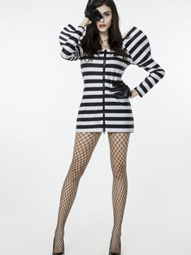Exaggerated Prisoner Cloth Design Polyester Material Cosplay Costumes
