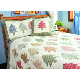 Colorful Christmas Tree 3 Piece Bedding Sets