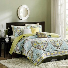European Style Lovely Floral Figures 3-Piece Bed in a Bag Sets