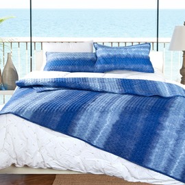 New Style Concise Pure Sea Blue Design Bed in a Bag