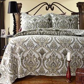 Classical European Jacquard Design 3-Piece Cotton Bed in a Bag
