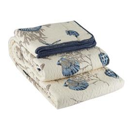 Conch and Starfish Print 3-Piece Cotton Bed in a Bag