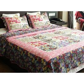 Beautiful Butterflies Print Cotton 3-Piece Bed in a Bag