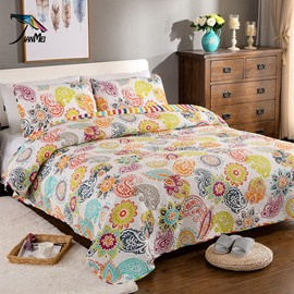 Fabulous Paisley Print 100% Cotton 3-Piece Bed in a Bag