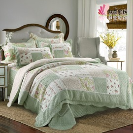 Fresh Style Green Patchwork 3-Piece Bed in a Bag