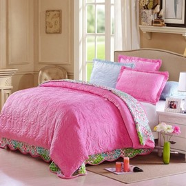 Dreamy Pink Skincare Flannel and Cotton 3-Piece Bed in a Bag