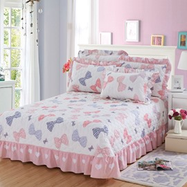 Princess Style Bowknot Print Soft Cotton Bed in a Bag