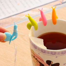 Multi-Color Snail-Design Tea Cup Tea Bag Holder