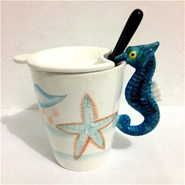 3D Cute Hippocampus Marine Life Animal Style Coffee and Tea Cup Mugs