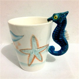 Sea Horse Ceramic Cartoon Modern Style Tea Cup