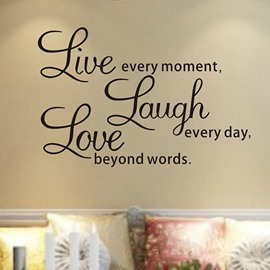 18*25in Words of Wisdom Live Laugh Love PVC Removable Wall Sticker
