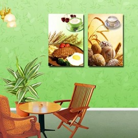 Lovely Delicious Breakfast Print Cross Film Wall Art Prints