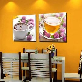 New Arrival Beautiful Herbal Tea Print 2-piece Cross Film  Wall Art Prints