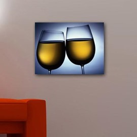 New Arrival Elegant Champagne in Glass Print Cross Film Wall Art Prints