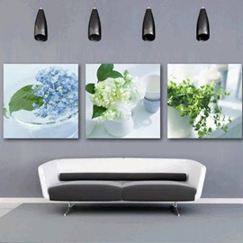 New Arrival Beautiful Flowers in the Vase Print 3-piece Cross Film Wall Art Prints