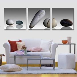 New Arrival Elegant Cobblestones Print 3-piece Cross Film Wall Art Prints