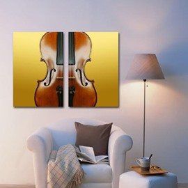 New Arrival Elegant Violin Print 2-piece Cross Film Wall Art Prints