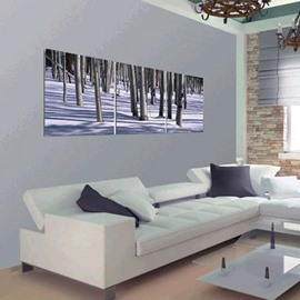 New Arrival Elegant Forest in the Snow Print 3-piece Cross Film Wall Art Prints