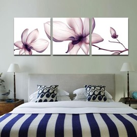 16×16in×3 Panels Flowers Hanging Canvas Waterproof and Eco-friendly Framed Prints