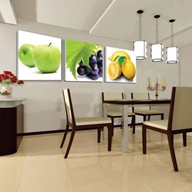 New Arrival Cute Fresh Fruits Print 3-piece Cross Film Wall Art Prints