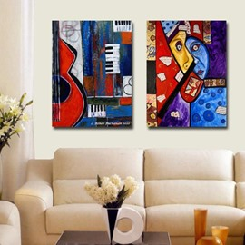New Arrival Abstract Painting Print 2-piece Cross Film Wall Art Prints