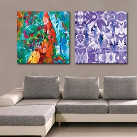 New Arrival Beautiful Colorful Irregular Patterns Print 2-piece Cross Film Wall Art Prints