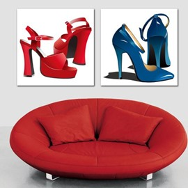 New Arrival Lovely High Heels Print 2-piece Cross Film Wall Art Prints