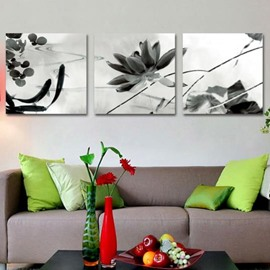 New Arrival Elegant Lotus and Goldfish Print 3-piece Cross Film Wall Art Prints