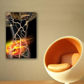 New Arrival Lava and Cracks Print Cross Film Wall Art Prints