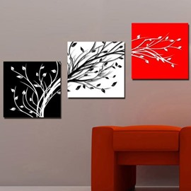 16×16in×3 Panels Branches Printed Hanging Canvas Waterproof and Eco-friendly Framed Prints