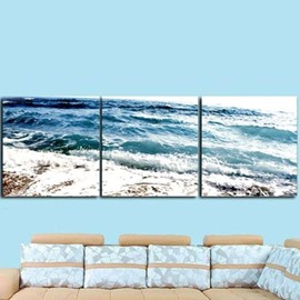 New Arrival Beautiful Turbulent Flow Print 3-piece Cross Film Wall Art Prints