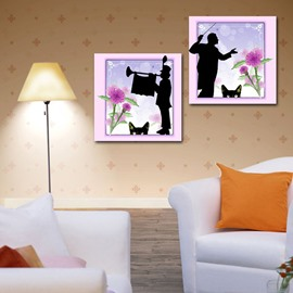 New Arrival Music and Cat 3-piece Cross Film Wall Art Prints