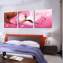 Sweet Kiss on Silk 3-piece Cross Film Wall Art Prints