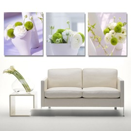New Arrival White And Green Flowers In The Cups Cross Film Wall Art Prints