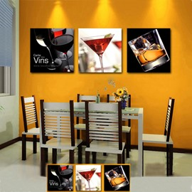 New Arrival Different Wine In Different Glass Cross Film Wall Art Prints
