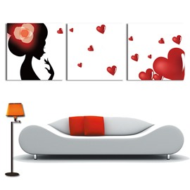 New Arrival Sexy Woman And Red Heart Cross Film Wall Art Prints